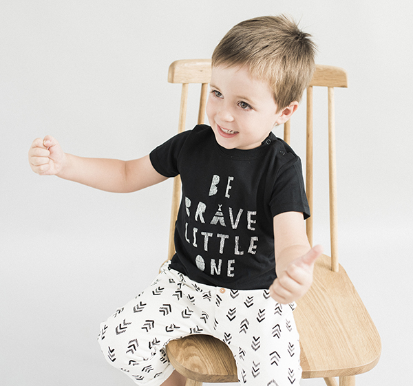 Camiseta niño negra Forest de Dear Mini Barcelona