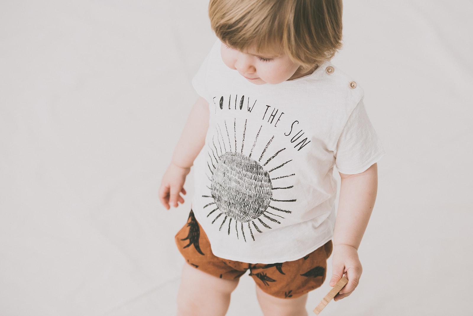 Camiseta niño negra Forest de Dear Mini Barcelona